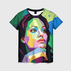 Футболка женская Angelina Jolie: Art цвета 3D — фото 1