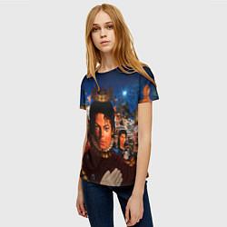 Футболка женская Michael Jackson: Pop King цвета 3D — фото 2