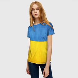 Футболка женская Украина цвета 3D — фото 2