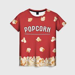 Футболка женская Popcorn цвета 3D — фото 1
