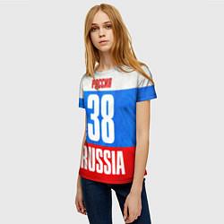 Футболка женская Russia: from 38 цвета 3D — фото 2