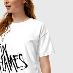 Футболка оверсайз женская In Flames цвета белый — фото 2