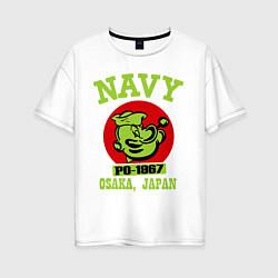 Футболка оверсайз женская Navy: Po-1967 цвета белый — фото 1