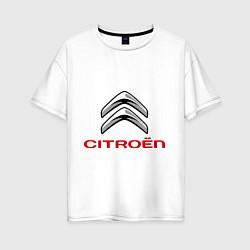 Футболка оверсайз женская Citroen цвета белый — фото 1