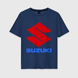 Футболка оверсайз женская Suzuki цвета тёмно-синий — фото 1
