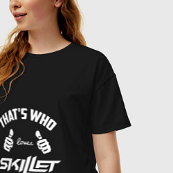 Футболка оверсайз женская That's Who Loves Skillet цвета черный — фото 2