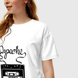 Футболка оверсайз женская Depeche Mode: Tape цвета белый — фото 2