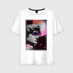 Женская удлиненная футболка с принтом Vapor David, цвет: белый, артикул: 10148981305825 — фото 1
