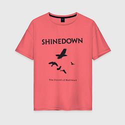 Футболка оверсайз женская Shinedown: Sound of Madness цвета коралловый — фото 1