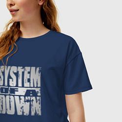 Футболка оверсайз женская System of a Down цвета тёмно-синий — фото 2