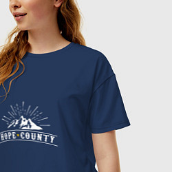 Футболка оверсайз женская Hope Count: Mountain цвета тёмно-синий — фото 2