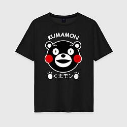 Футболка оверсайз женская Kumamon цвета черный — фото 1