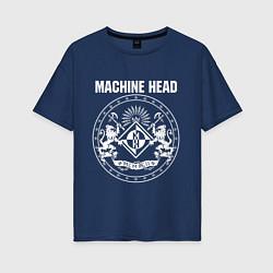 Футболка оверсайз женская Machine Head MCMXCII цвета тёмно-синий — фото 1