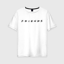 Футболка оверсайз женская Logo Friends цвета белый — фото 1