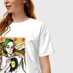 Женская удлиненная футболка с принтом ПОШЛАЯ МОЛЛИ, цвет: белый, артикул: 10210021305825 — фото 2