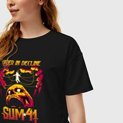 Футболка оверсайз женская Sum 41 Order In Decline цвета черный — фото 2