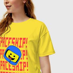 Футболка оверсайз женская Spaceship цвета желтый — фото 2