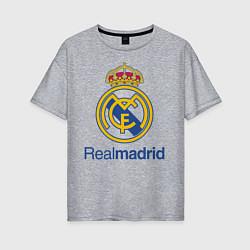 Футболка оверсайз женская Real Madrid FC цвета меланж — фото 1