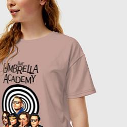 Футболка оверсайз женская Академия Амбрелла цвета пыльно-розовый — фото 2