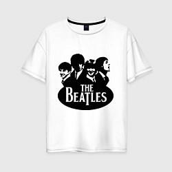 Футболка оверсайз женская The Beatles Band цвета белый — фото 1