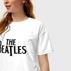 Футболка оверсайз женская The Beatles цвета белый — фото 2
