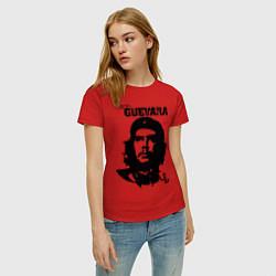 Футболка хлопковая женская Che Guevara цвета красный — фото 2