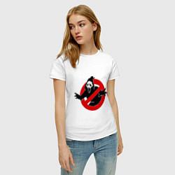 Футболка хлопковая женская Крик: запрещено цвета белый — фото 2