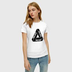 Футболка хлопковая женская Palace Triangle цвета белый — фото 2