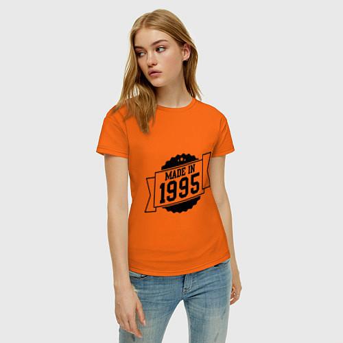 Женская футболка Made in 1995 / Оранжевый – фото 3