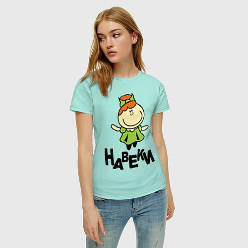 Женская футболка Подруги навеки / Мятный – фото 3