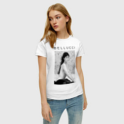 Футболка хлопковая женская Monica Bellucci: Romantic цвета белый — фото 2
