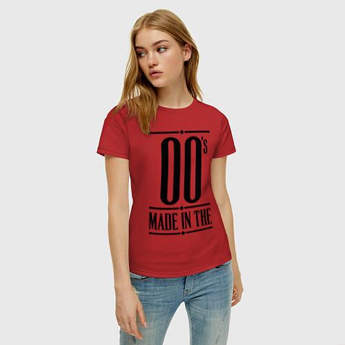 Женская футболка Made in the 00s / Красный – фото 3