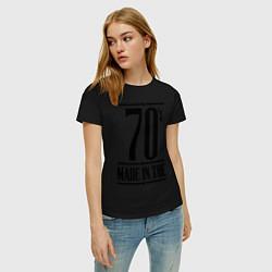 Футболка хлопковая женская Made in the 70s цвета черный — фото 2
