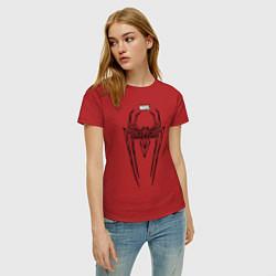 Футболка хлопковая женская Black Spider-Man цвета красный — фото 2