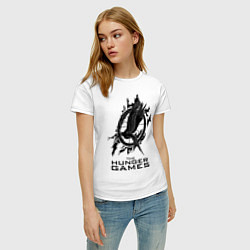 Футболка хлопковая женская The Hunger Games цвета белый — фото 2