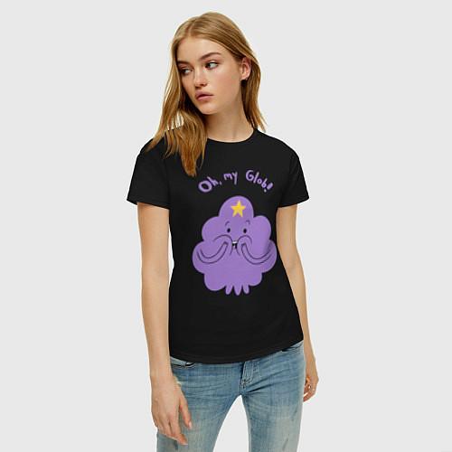 Женская футболка Oh, my Glob! / Черный – фото 3