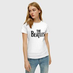 Футболка хлопковая женская The Beatles цвета белый — фото 2