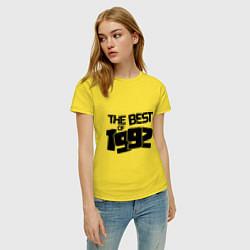 Футболка хлопковая женская The best of 1992 цвета желтый — фото 2