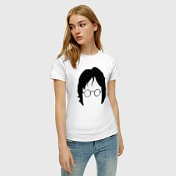 Футболка хлопковая женская John Lennon: Minimalism цвета белый — фото 2